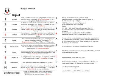 mini-Busquiz Rijsel - Vragen en antwoordblad2